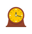 clock vintage icon flat style vector image vector image