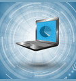 computer on futuristic background vector image vector image