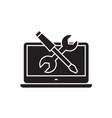 computer repair black concept icon vector image vector image