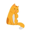 Cute Cartoon Cat vector image