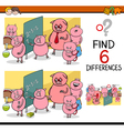 differences game for children vector image