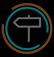 directions sign - street road directional vector image