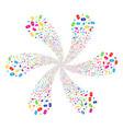 discount tag cyclonic stream vector image vector image