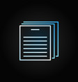 document outline creative icon documents vector image
