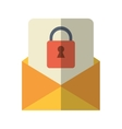 email message security system technology vector image
