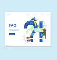 faq website landing page design template vector image