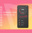 fitness cardio app heart rate monitor ui design vector image