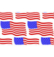 flag usa pattern vector image vector image