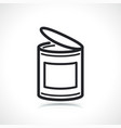 food can or tin icon vector image vector image