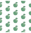 fresh green apples seamless pattern hand drawn vector image vector image