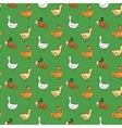 Funny seamless pattern with geese ducks cocks vector image vector image