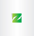 green z letter logo square icon vector image vector image