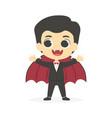 halloween cute dracula vampire boy costume vector image vector image