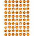 halloween pumpkin emoticons vector image