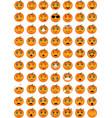 halloween pumpkin emoticons vector image vector image