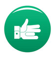 hand abstract icon green vector image vector image
