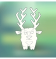 Hand-drawn angry deer with vector image vector image