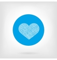 Heart icon in flat and doodle style vector image vector image