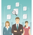 Human Resources Management Flat Concept vector image