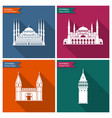 istanbul landmarks and monuments flat vector image vector image