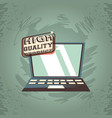 laptop computer gadget high quality product grunge vector image