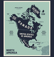 map north america poster map north america vector image