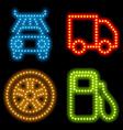 neon mechanic set vector image