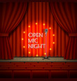 open mic night live show background vector image vector image