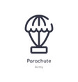 Parachute outline icon isolated line from army