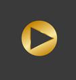 play button icon flat logo app vector image vector image