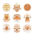 premium bakery logo design vintage traditional vector image
