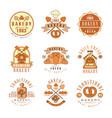 premium bakery logo design vintage traditional vector image vector image