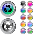 recycling multicolor round button vector image vector image