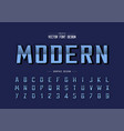 reflective font and bold alphabet gradient vector image vector image