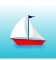 sailing ship transportation vector image vector image