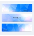 Scientific set of modern banners Colorful vector image