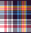 seamless check plaid pattern multicolored vector image vector image