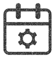 Service Day Grainy Texture Icon vector image vector image