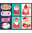 set funny santa clauses vector image vector image