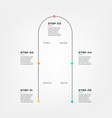 snake timeline steps infographics - can vector image vector image