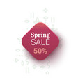 spring sale banner with geometrical figures vector image vector image