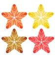 Starfishes isolated set EPS10