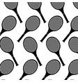 tennis racket sport equipment seamless pattern vector image vector image