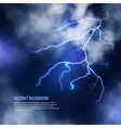 Thunderstorm with clouds and lightnings vector image vector image