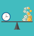 Time is money concept Flat design stylish Isolated vector image vector image