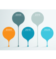 timeline 3d infographic 3 vector image vector image