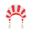 tribal ethnic chief feather hat native american vector image vector image