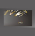 tropical black and gold leaves on dark background vector image