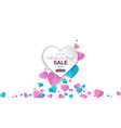 valentiness day banner sale special offers with vector image