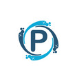 water clean service abbreviation letter p vector image vector image
